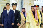 """아베, 사우디 국왕·왕세자와 회담…""""중동 긴장완화 위해 협력"""""""