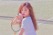 아이들 우기, 차세대 화보돌…테니스 소녀 변신
