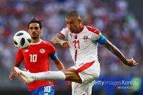 세르비아, 콜라로프 프리킥 골로 코스타리카 전 기선 제압
