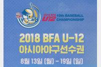 2018 BFA U-12 아시아 야구선수권 13일 개막