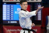 [아시안게임] 태권도 남자 품새 강민성, 한국에 대회 첫 金 선사