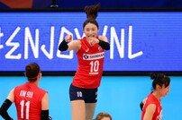[아시안게임] '김연경 이재영 활약' 한국 여자 배구, 인도에 3-0 완승