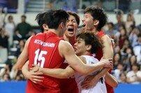 [아시안게임] 한국 남자 배구, 대만에 3-2 승리 '첫 승 신고'