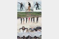 [DA:클립] '구내식당' 안현모, 제주도 바다서 서핑 도전