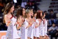 [포토] 농구장의 꽃 '치어리더의 화려한 공연!'