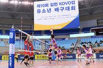 '2018 한국도로공사·KOVO컵 유소년 배구대회' 8일 개막