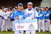 [포토] 3안타 타격상을 수상한 구승민!