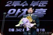 [포토] 안치홍 '타이거즈 사랑합니다~'