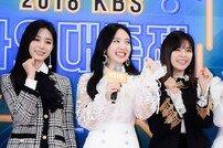 [포토] '2018 KBS 가요대축제' 트와이스 쯔위-나연-정연 '내년에도 많이 사랑해주세요!'