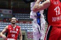 한국 남자농구대표팀, 평가전 하듯 시리아 격파