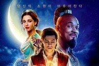 [DA:박스] '알라딘' 3일 연속 1위, '기생충' 850만 임박