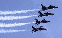 공군 특수비행팀 블랙이글스의 화려한 에어쇼
