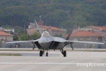[서울 ADEX 2017] 미전투기 F-22 랩터 시범 비행