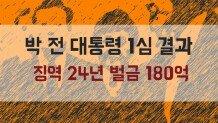 박 전 대통령 1심 결과, 징역 24년 벌금 180억