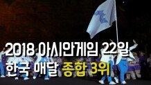 2018 자카르타-팔렘방 아시안 게임.. 22일 종합 3위