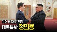 미소 띤 채 귀환한 대북특사 정의용