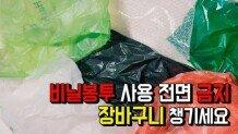 비닐봉투 사용 전면 금지, 장바구니 챙기세요
