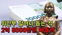 위안부 할머니 돕는 척... 지원금 2억 8000만 원 빼돌려