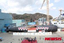 대우조선, 인도네시아 수출용 잠수함 진수식