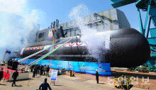 KSS-II 7번함(홍범도함) 진수식…'부활한 홍범도 장군'
