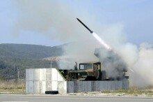 군, 서해상서 K-9 자주포·130㎜  '구룡'  다연장로켓 해상사격