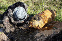 전남 화순서 6·25 전쟁 당시 포탄 발견