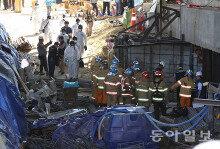 남양주 지하철 공사현장 붕괴…4명 사망·10명 부상