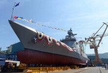 해군, 2800톤급 신형 호위함 '대구함' 진수