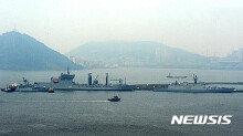 해군 부산기지에 입항한 인도 해군 함정 3척