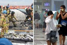 김포공항 차광막서 화재 발생… 여행객 대피소동