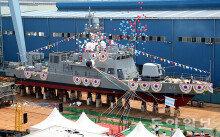 해군, 신형 고속정 1번함 진수식…'서해 NLL 사수'