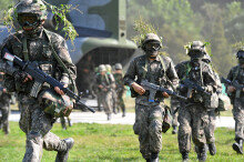 육군 27사단, 예비군 공중강습작전 실시… '실전 같은 훈련'