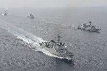 동해상서 한미 연합 해군훈련 실시…美 스프루언스함 참가