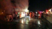 경부고속도 관광버스 화재참사…10명 사망· 7명 부상