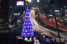 불 밝힌 서울광장 '성탄 트리'