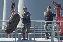 공군 EOD반, 한강철교 남단서 항공탄 인양·해체