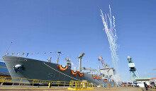 해군, 1만t급 군수지원함 '소양함' 진수식
