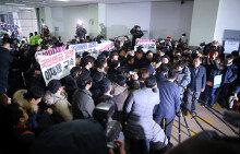 """이재용 9년만 피의자로 특검출석 """"국민께 송구"""""""