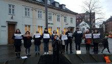 덴마크-스웨덴 교민들 '정유라 송환' 촉구 시위