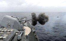 동해 북방한계선(NLL)사수 의지를 담은 함포 사격