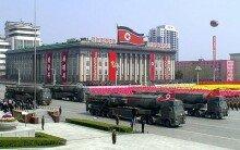 북한 태양절 열병식에  등장한 콜드 런치 ICBM
