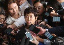 [화보]김미화, MB정권 블랙리스트.. 검찰 출석