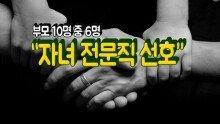 """부모 10명 중 6명 """"자녀 전문직 선호"""""""