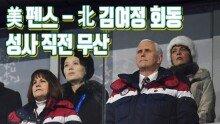 '펜스-김여정 회동' 성사 직전 무산