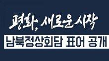 남북정상회담 표어 공개, '평화, 새로운 시작'