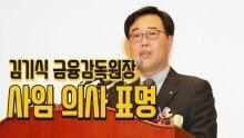 김기식 금융감독원장 사임 의사 표명