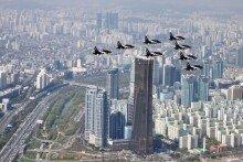 [화보]'블랙 이글스'는 서울 상공 비행중