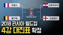 2018 러시아 월드컵 4강 대진표