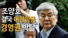 조양호, 결국 대한항공 경영권 박탈 … 연임 실패