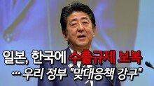 """일본, 한국에 수출규제 보복…우리 정부 """"맞대응책 강구"""""""